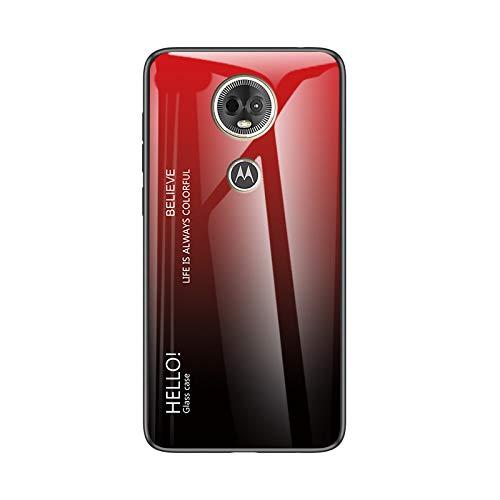Custodia® Farbverlauf Anti-Kratzer Glas Hülle Kompatibel für Motorola Moto E5 Plus (6)