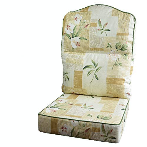 Gilda Replacement Cane Furniture DELUXE PIPED - HUMP TOP CHAIR/SOFA/SUITE CUSHIONS ONLY Wicker...