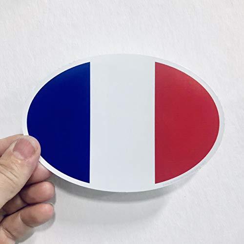 Lplpol Pegatina de vinilo con diseño de bandera de Francia para adolescentes, niñas y mujeres, 15,24 cm