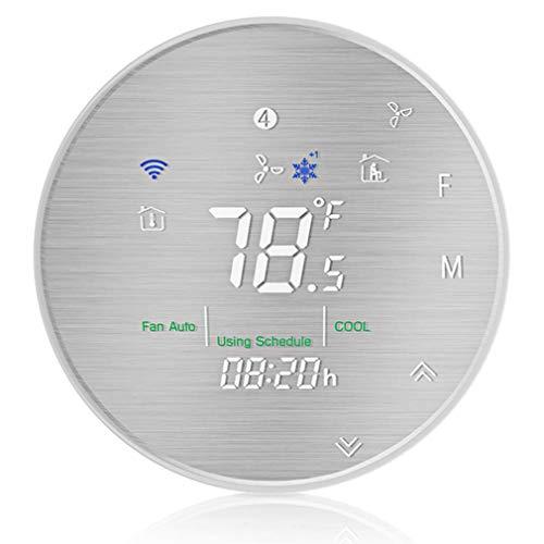 JINSE WiFi Smart warmtepomp thermostaat programmeerbare temperatuurregelaar geborsteld metalen paneel