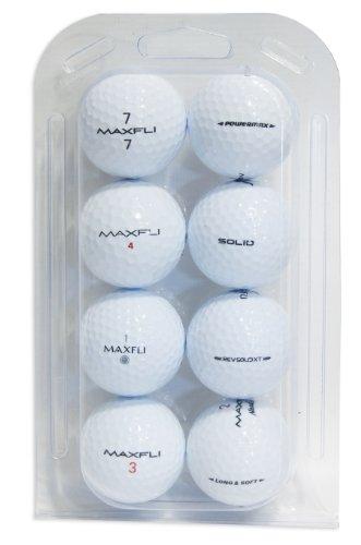 Second Chance Golfbälle 8 Maxfli Qualitäts, weiß, VAL-8-CL-MAX