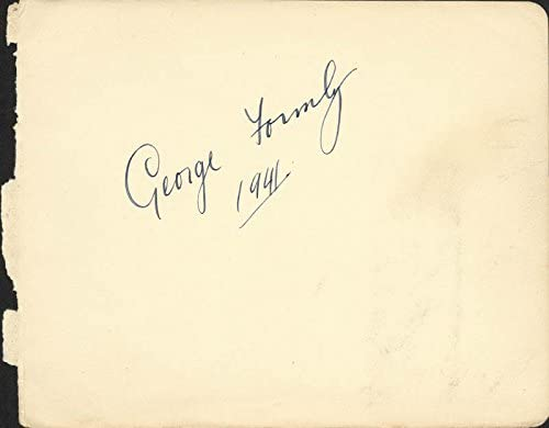 George Formby Max 50% New Shipping Free Shipping OFF - 1941 Signature