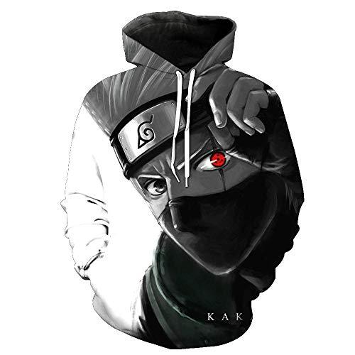 XXWFCZF Sudadera con Capucha con Estampado De Naruto 3D para Hombre, Chaqueta Informal De Streetwear-XXL_1