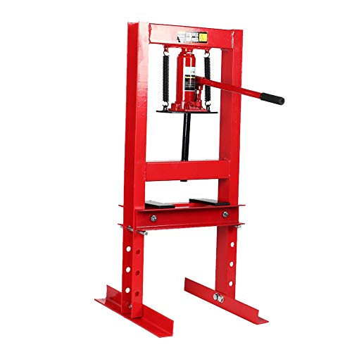 Read About 6 Ton/13200-LB Hydraulic Shop Floor Press with Press Plates and H Frame