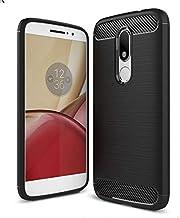Motorola Moto M - Carbon Fiber TPU Gel Slim Lightweight Case Cover -Black