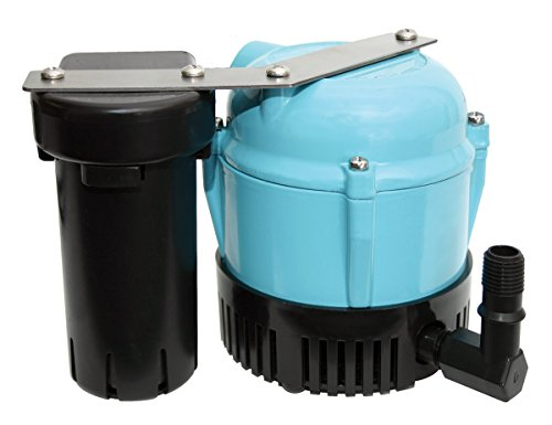 Little Giant 550521 1-ABS 205 GPH Shallow Condensate Removal Submersible Pump for Air Conditioner Drain Pan or Reservoir, Dehumidifier