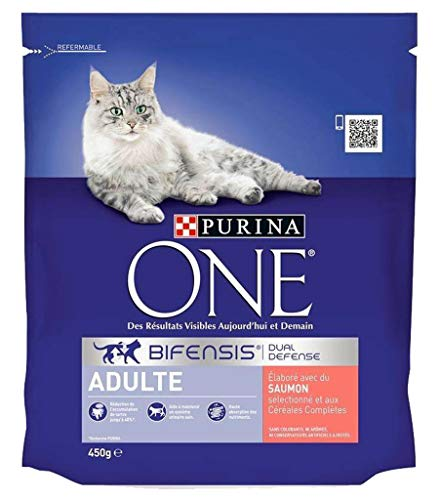 PURINA ONE Adult Lachs-Kroketten Cat 450G (6er-Set) 1
