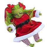 Reborn Baby Grinch Toy Realistische Cartoon Puppe Weihnachten Simualtion Puppe Weihnachten Geschenk...