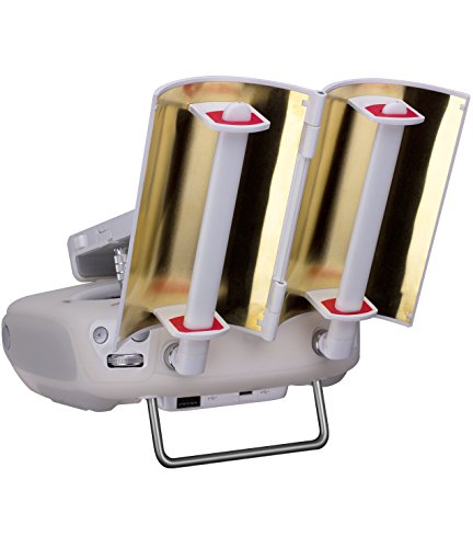 TOZO Antenna Signal Range Booster Parabolic Foldable for DJI Phantom 4 / Phantom 3 Professional/Advanced Inspire 1/2 Controller Transmitter Signal for Extended Extend [Gold]