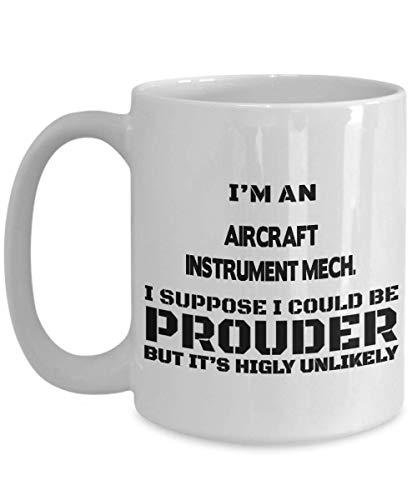 DJNGN Mecánico de instrumentos de aviones Regalos Mecánico de instrumentos de aviones. Taza de café, Mech de instrumentos de avión. Taza de cerámica de té/café para profesionales