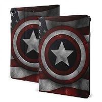 アメリカの旗の盾 ケースフィットiPad 7 th 10.2インチケース、オートスリープ/ウェイク超スリム軽量スタンドレザーケース