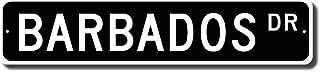 Tin Sign 8X12 inches Barbados Keepsake Barbados Decor Barbados Souvenir Sign