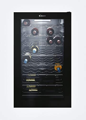 Candy DiVino CWC150EM/N Cantinetta Vino Refrigerata, 41 bottiglie, Luci a LED e Trattamento anti UV, Ripiani...