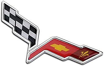 Bearfire Rear and Front Bumper emblem for Corvette C6 2005 2006 2007 2008 2009 2010 2011 2012 Inserts Not Decals color2 (Front,Rear and side Bumper emblem color2)