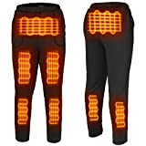 FERNIDA Heated Pants USB Electric Thermal Heating Trousers Cold-Proof Bottom Men/Women(Battery Not Included) (Black1, X-Small)