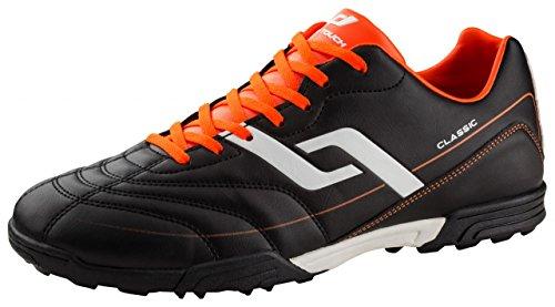 Pro Touch Herren Classic TF Fußballschuhe, Schwarz/Orange/Weiss 901, 42 EU