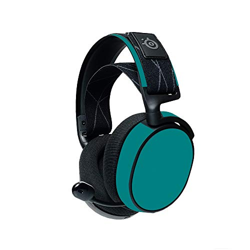 MightySkins Compatible with Steelseries Arctis 7 Gaming Headset (2019) - Solid Teal | Protective, Durable, and Unique Vinyl Decal| Easy to Apply, Remove, and Change Styles | Made In The USA