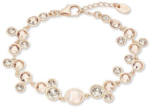 Noelani Damen-Armband 17+3 cm längenverstellbar rosévergoldet Swarovski Kristalle