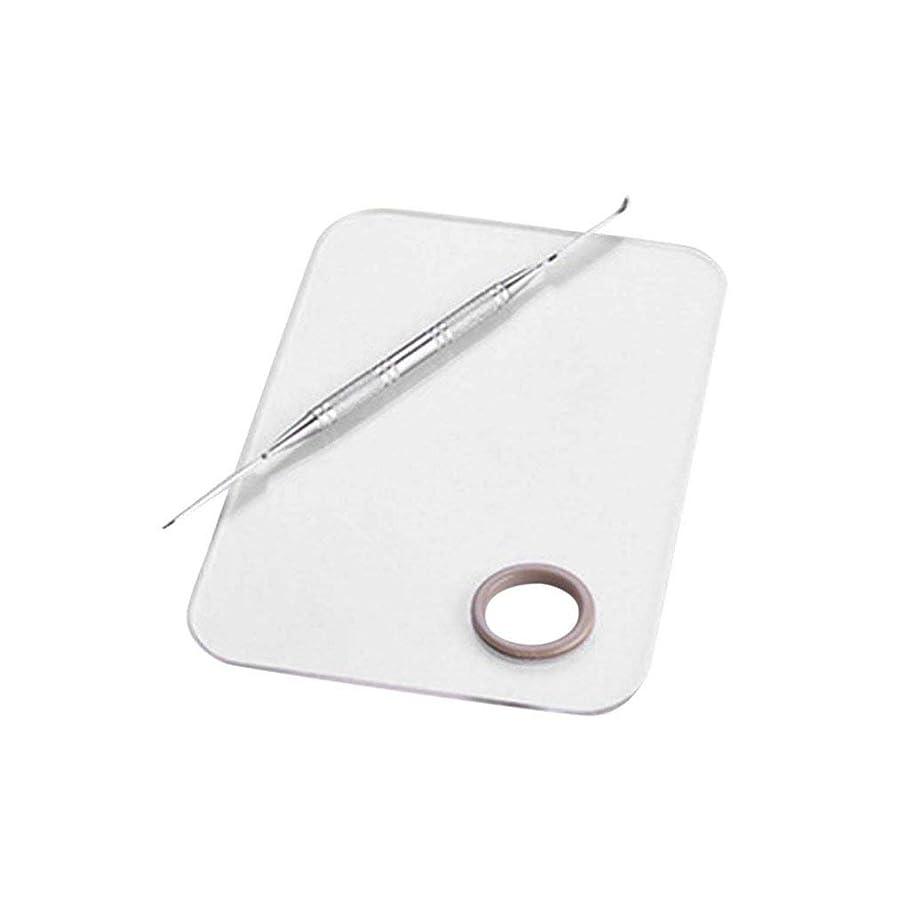 必要条件ピザ敬意を表するサロンマニキュアカラーパレットは、ツールのステンレス鋼板をメイクアップパレット化粧品をミキシングクリームファンデーションをメイク