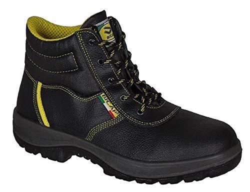 BICAP Arbeitsschuh (L 2409/2B S3 SRC) aus Leder mit Stahlkappe und Stahlsohle EN ISO 20345:2011 - Sicherheitsschuh - Stahlkappenschuh - für Damen und Herren (39)