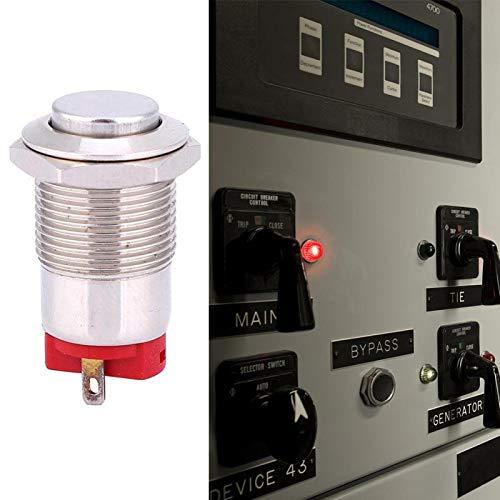 Interruptor pulsador 500.000 veces 12 mm 250 V resistente al agua para equipos industriales(High head)
