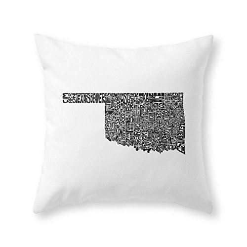 Sea Girl Soft Typographic Oklahoma Throw Pillow Indoor Cover Pillow Case For Your Home