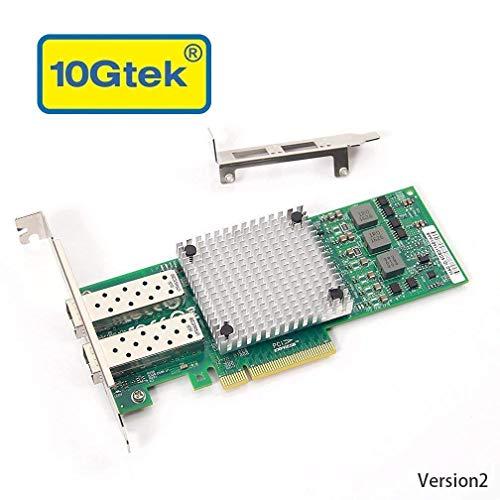 10Gネットワークカード Broadcom BCM57810S 純正ボード(チップ)実装, デュアルSFP+ポート, PCI-E2.0X8, P...