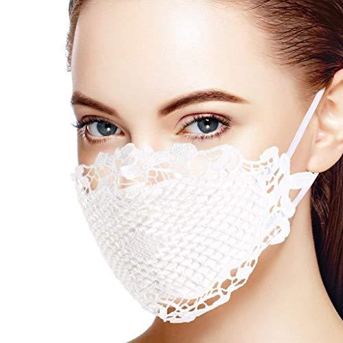 N / N Adultos Moda _ De Blanco/Negro Cordón Respirable Elástico para Cenas Al Aire Libre Actividades Adecuado bodas No Reutilizable Decorativa