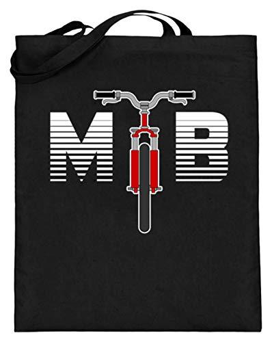 SPIRITSHIRTSHOP MTB - Mountainbike, Bergfahrrad, Geländefahrrad, Fahrrad, Fahrradfahrer, Rennrad, Bikes - Jutebeutel (mit langen Henkeln) -38cm-42cm-Schwarz