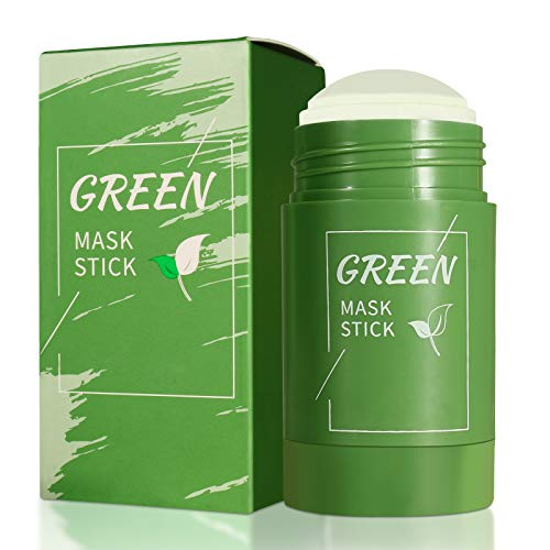 Green Mask Stick, Grüntee Purifying Clay Stick Mask, Befeuchtet die Ölkontrolle, Deep Cleansing Smearing Clay Mask, Deep Clean Pore, Moisturizing Nourishing Skin, für alle Hauttypen Männer Frauen