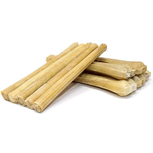 """Raw Paws Dog Treats Variety Pack 10"""" Compressed Rawhide Sticks & 10"""" Pressed Rawhide Bones, 10-Count - Large Dog Bones for Aggressive Chewers - Rawhide Chews Dog Treat Value Pack - Variety Dog Chews"""