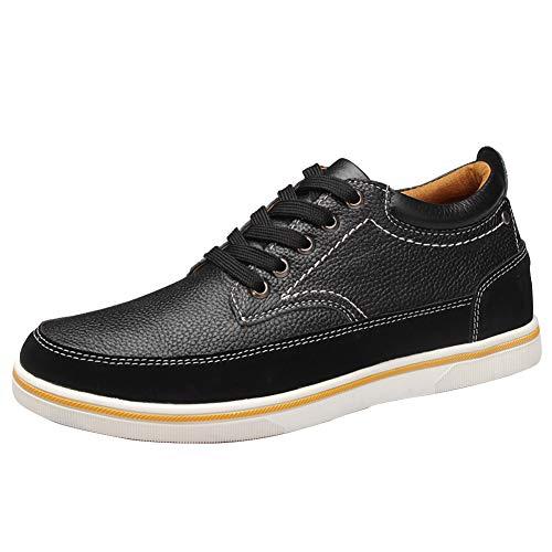 Ailishabroy Zapatillas Hombre Zapatos Cuero Genuino