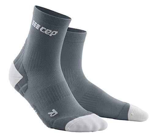 CEP Calcetines cortos de compresión ultraligeros para mujer. Calcetines cortos deportivos con compresión., Mujer, WP2BY, ULTRALIGHT - gris/gris claro., medium