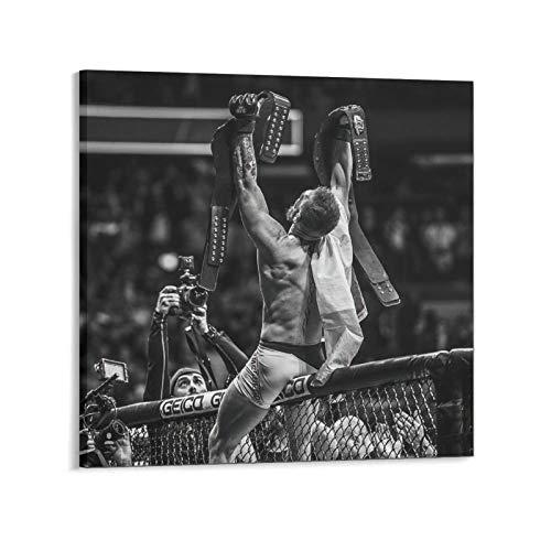 Cuadro con cita motivacional para boxeo Conor McGregor, 40 x 40 cm