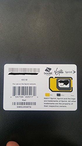 Sprint UICC ICC Nano SIM Card SIMOLW506TQ