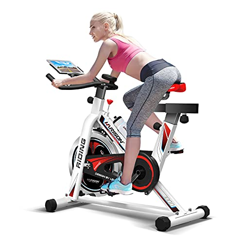 HARISON Indoor Cycling Bike Stationary with Tablet Holder Exercise Bike 35LBS Flywheel for Home Cardio Workout with RPM and Comfortable Seat ( Updated Big Seat)
