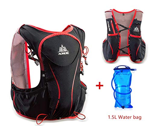 ZHTY 5L Professional Backpack Outdoor Sports Lightweight Marathon Hydration Vest Pack for Cycling Hiking Running with 2pcs 500ML Water bottle or 1.5L Water bag Backpack Reservoirs
