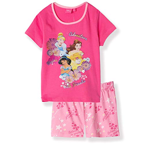Disney Princess Personaggi Ragazze Manica Corta 100% Cotone Pigiama Set Pigiama Pigiama 2-6 Anni Fucsia 2-3 Anni