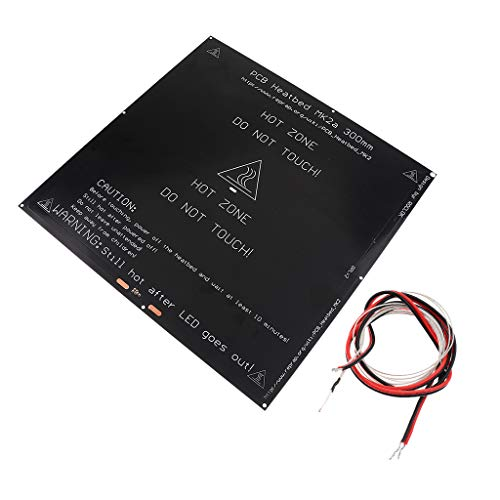 IPOTCH Aluminum MK3 12V/24V Heated Bed Hotbed Black 300x300mm for 3D Printer + 1meter Wire 100K Thermistor For Reprap 3D Printer Printing Hot End