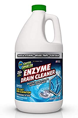 Green Gobbler ENZYME Drain Cleaner - Commercial Kitchens, Grease Traps, Floor Drains - Breaks down Grease, Paper, Fats & Oil in Sewers, Septic, Drain Lines and Controls Foul Odors