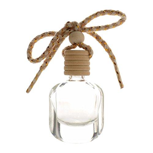 Bodhi2000 Botella de Perfume vacía Transparente para Colgar en el Coche, decoración del hogar