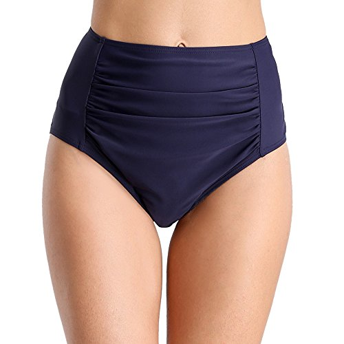 beautyin Women's Bikini Bottoms Ruched Swim Bottoms Full Coverage Swim Briefs