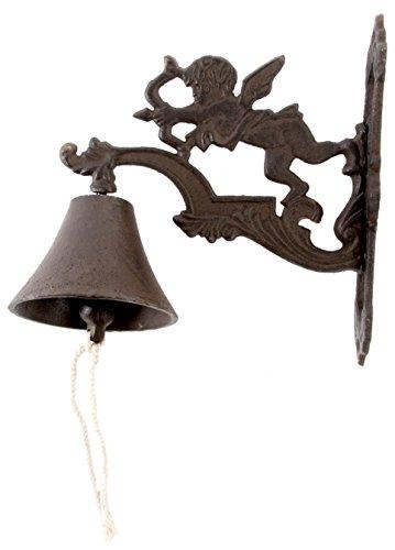 Cloche de porte Marron fonc/é Maison de Campagne Cloche en fonte main antique floral Sonnette de porte