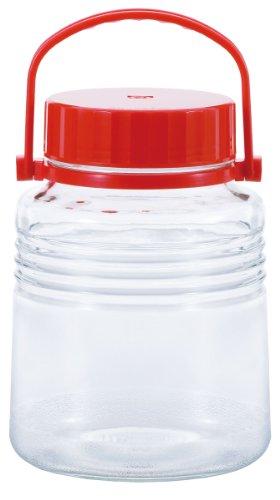 アデリア ガラス 保存容器 梅酒 果実酒瓶 中栓付き 3L クリア 4号 日本製 791