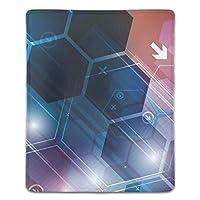 マウスパッド ゲーム FPSゲーム向けゲーミング 疲労低減 レーザー&光学式マウス対応パッド 六角形 滑り止めゴム底 耐洗い表面 耐久 180X220X3mm