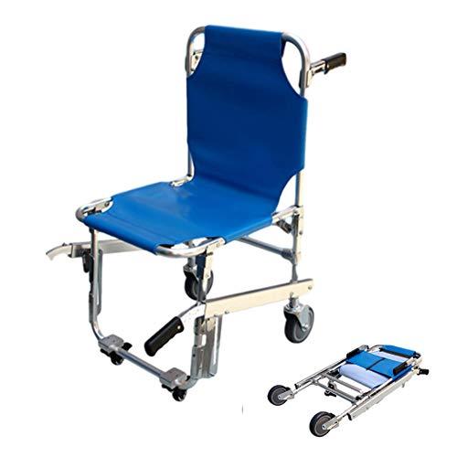 Chang Patiententransport Tragestuhl Treppenstuhl Krankenstuhl Transportstuhl Mit 4 Gleitfüße Tragbare Erste Hilfe Rettungstransport Trage Für Die Evakuierung Von Feuerwehrleuten