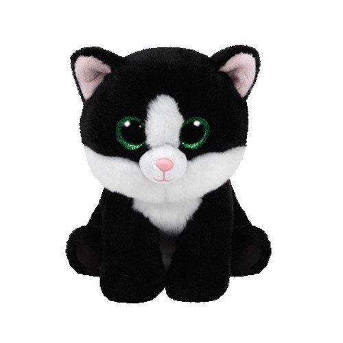 Carletto Ty AVA Cat TY 42185 Katze mit Glitzeraugen, Schwarz/weiß