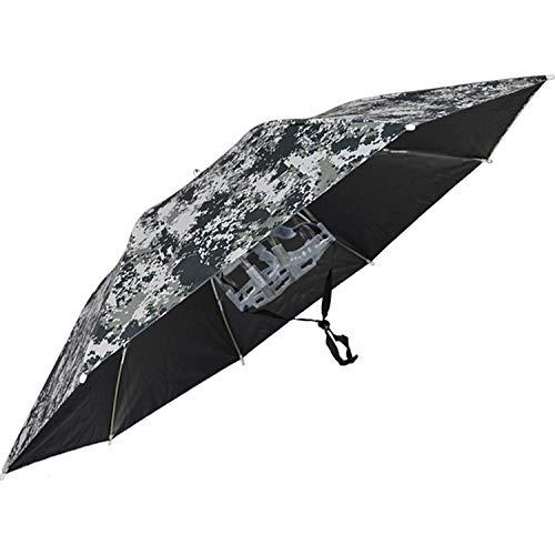 SJBD-Coaster Sombrero de Paraguas de Pesca Grande Sombrero Plegable Sombrero de Paraguas Ajustable a Prueba de Viento para Sombrero de Paraguas al Aire Libre con Banda elástica