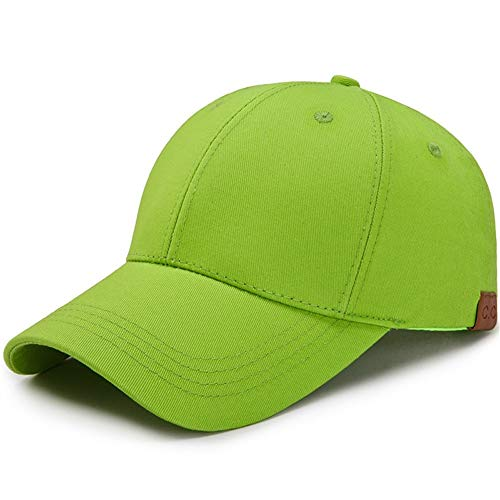 nobrand Ms Schachtelhalm durchlässige Feste Baseballmütze Sonnensegel Baseballmütze Casual Sonnenhut (Color : Green, Size : 56-60cm)