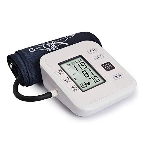 CHENNA Oberarm-Blutdruckmessgerät, 2 Benutzermodi, mit Speicherfunktion, digitaler elektrischer Blutdruckmessgerät BP-Tester-Maschinenzähler, unregelmäßiger Herzschlagmelder